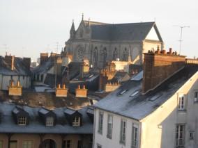 Rennes-vers l'église St-Aubin