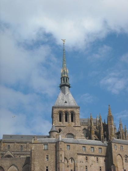 Le Mont-Saint-Michel-abbaye et son clocher